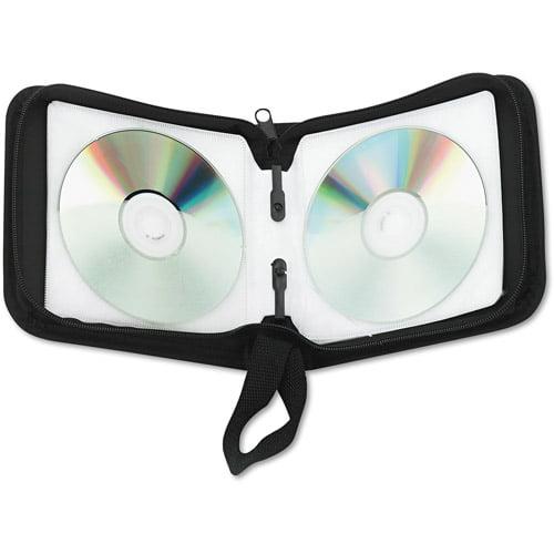 Innovera 73024 CD/DVD Wallet, Holds 24 Disks, Black