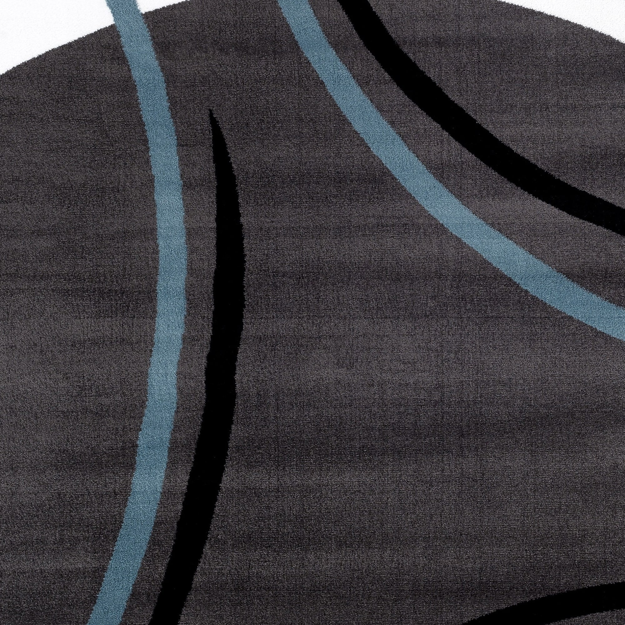 Contemporary Modern Wavy Circles Indoor Area Rug or Runner