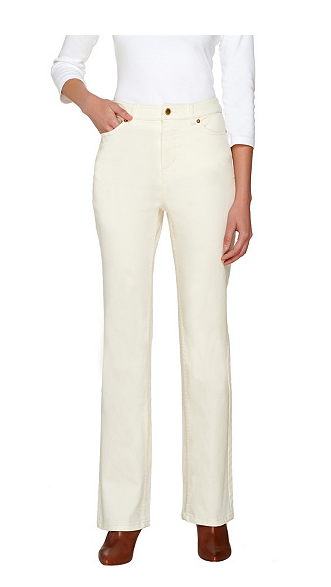 Petite colored bootcut jeans