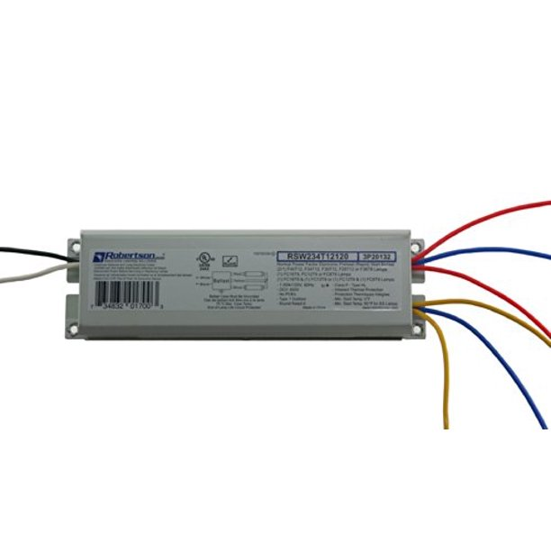 Robertson 3P20132 Fluorescent eBallast for 2 F40T12 Linear Lamps, Preheat-  Rapid Start, 120Vac, 50-60Hz, Normal Ballast Factor, NPF, Model  RSW234T12120 /A (Crosses to 3P20010 Model RSW240T12120 /B) - Walmart.com -  Walmart.com   Ge F40t12 Ballast Wiring Diagram      Walmart.com