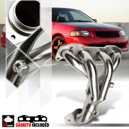 Stainless Steel Exhaust Header Manifold for 02-06 Nissan Sentra SER 2.5 QR25 B15 03 04