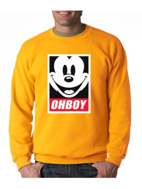 New Way 416 - Crewneck Oh Boy Mickey Mouse Face Anonymous Dope Sweatshirt