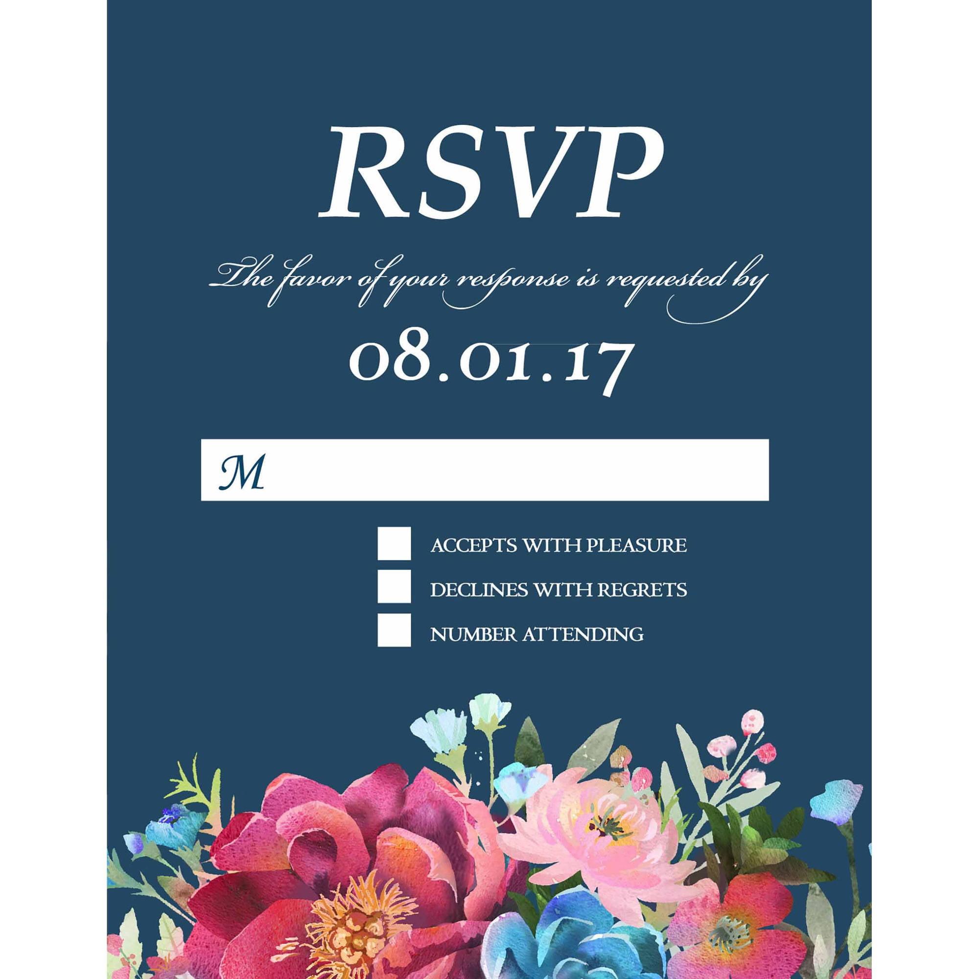Woodland Floral Standard RSVP