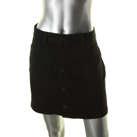 Denim & Supply Ralph Lauren Womens Emilie Button Front Mini Denim Skirt