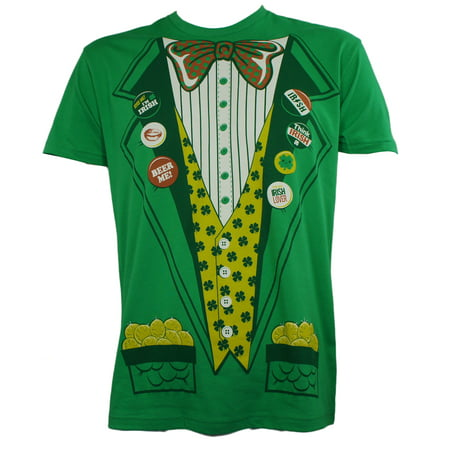 SAINT ST. PADDY'S Green Leprechaun Suit With Gold Costume T-Shirt