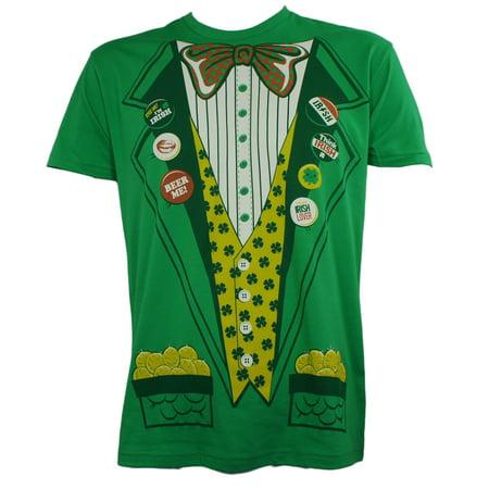 SAINT ST. PADDY'S Green Leprechaun Suit With Gold Costume - Baby Leprechaun Costume