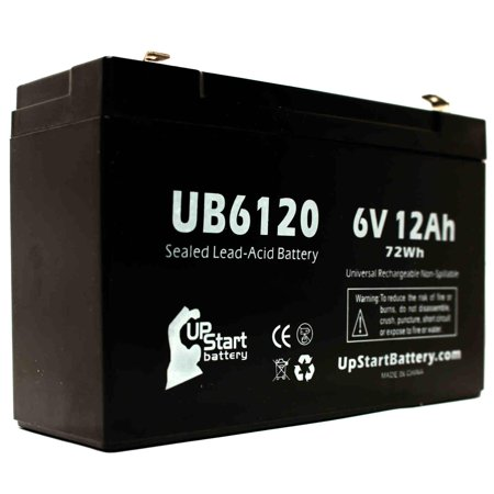 4x Pack - Tripp-Lite OMNIVS1000 Battery Replacement - UB6120 Universal Sealed Lead Acid Battery (6V, 12Ah, 12000mAh, F1 Terminal, AGM, SLA) - Includes 8 F1 to F2 Terminal Adapters - image 2 de 4