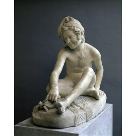 The Fisher Child   (Petit Pecheur)   Francois Rude (1784-1855/French)   Musee du Louvre  Paris Poster Print (18 x 24)