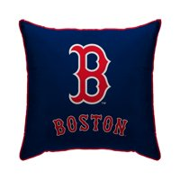 "Boston Red Sox 18"" x 18"" Plush Team Logo Decorative Throw Pillow - Blue"