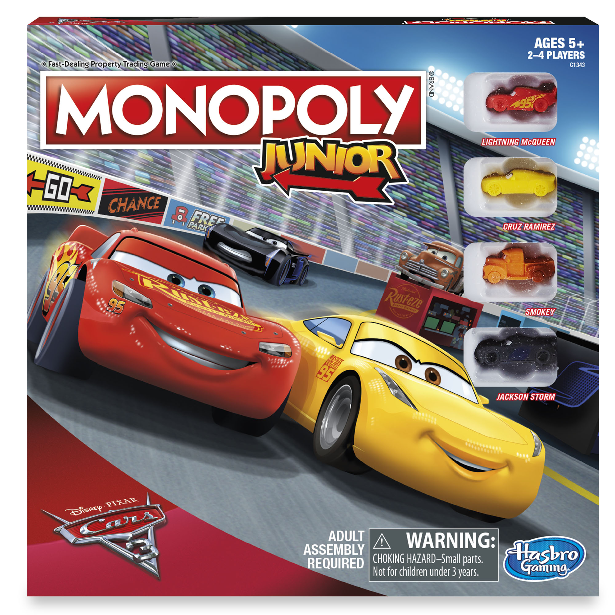Monopoly Junior: Disney Pixar Cars 3 Edition by Hasbro Inc