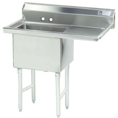 Advance Tabco Fabricated 45 One Compartment Sink Model FC-1-1818-24R