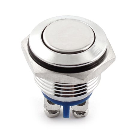 DC 12V Momentary Metal Push Button Switch IP67 Waterproof Switch (Washer Push Button)