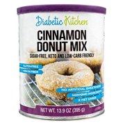 (2 Pack) Diabetic Kitchen Cinnamon Donut Mix Sugar-Free, Keto, Low Carb Friendly, Gluten-Free