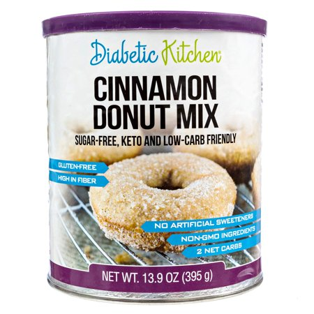 (2 Pack) Diabetic Kitchen Cinnamon Donut Mix Sugar-Free, Keto, Low Carb Friendly,