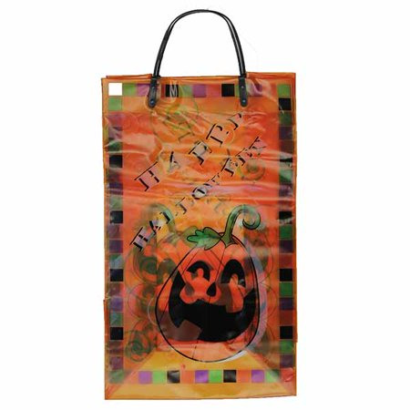 10 Pack Medium Gift Bag Happy Halloween - Pumpkin