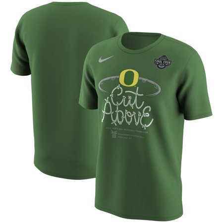 Oregon Ducks Nike 2019 NCAA Women's Basketball Tournament Final Four Bound Portland Regional Champions Locker Room T-Shirt - Apple Green