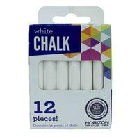 Horizon Group USA White Chalk, 12 Piece