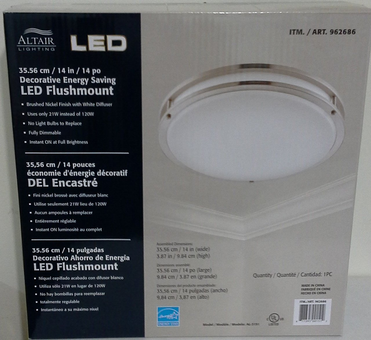 altair 14 led ceiling light