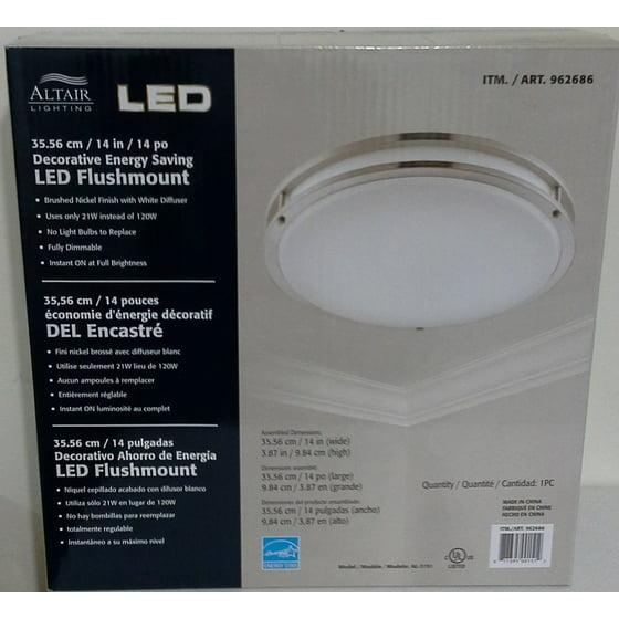 Altair Lighting Led 14 Inch Flush Mount Decorative Light