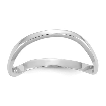 14k White Gold Polished Wave Fashion Thumb - 14k White Gold Wave