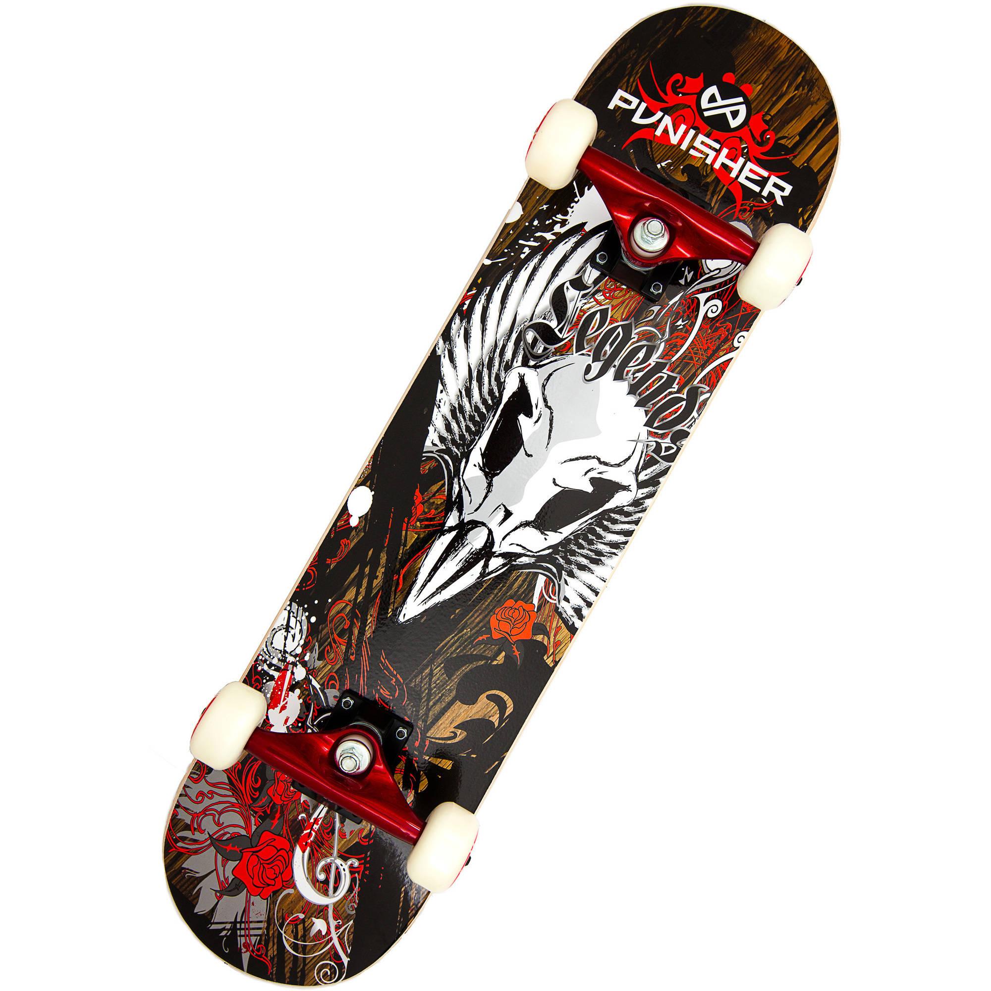 """Punisher Skateboards Legends 31.5"""" ABEC-7 Complete Skateboard"""
