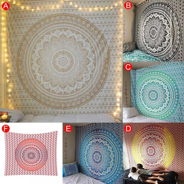 Cyber Monday Clearance Abcelit Indian Mandala Tapestry Home Decoration Tapestry Cover Beach Towel Yoga Picnic Mat Home Decor Textiles 2 Size Walmart Com Walmart Com