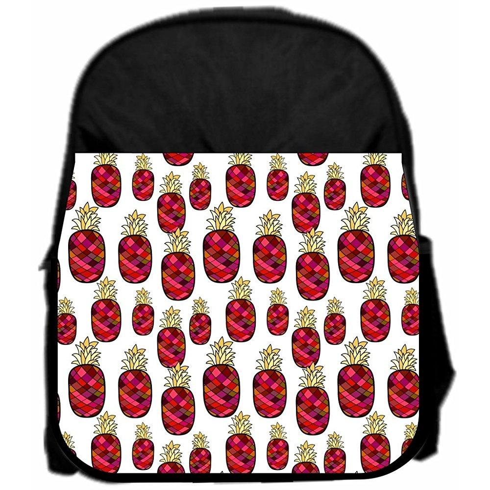 lea elliot pre-school backpack, pineapples pattern, small, black