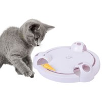 Interactive Cat Toys with a Rotating Running Mice Adjustable Speed Battery Operated Toy