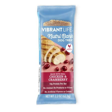 Vibrant Life Specialty NutriBark Dog Treat Bar, Chicken & Cranberry Flavor, 2.2 oz](Chicken Life)