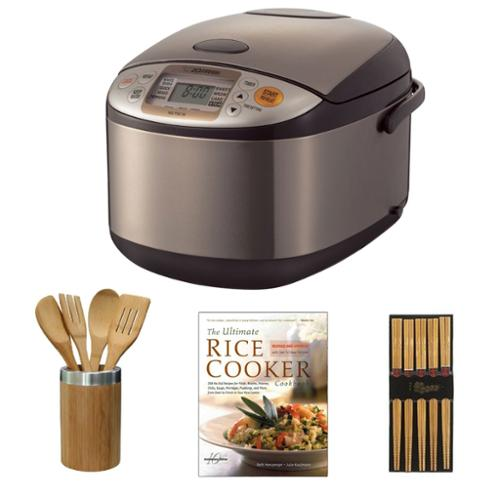 Zojirushi NS-TSC10/18 Micom Rice Cooker and Warmer Accessory Bundle