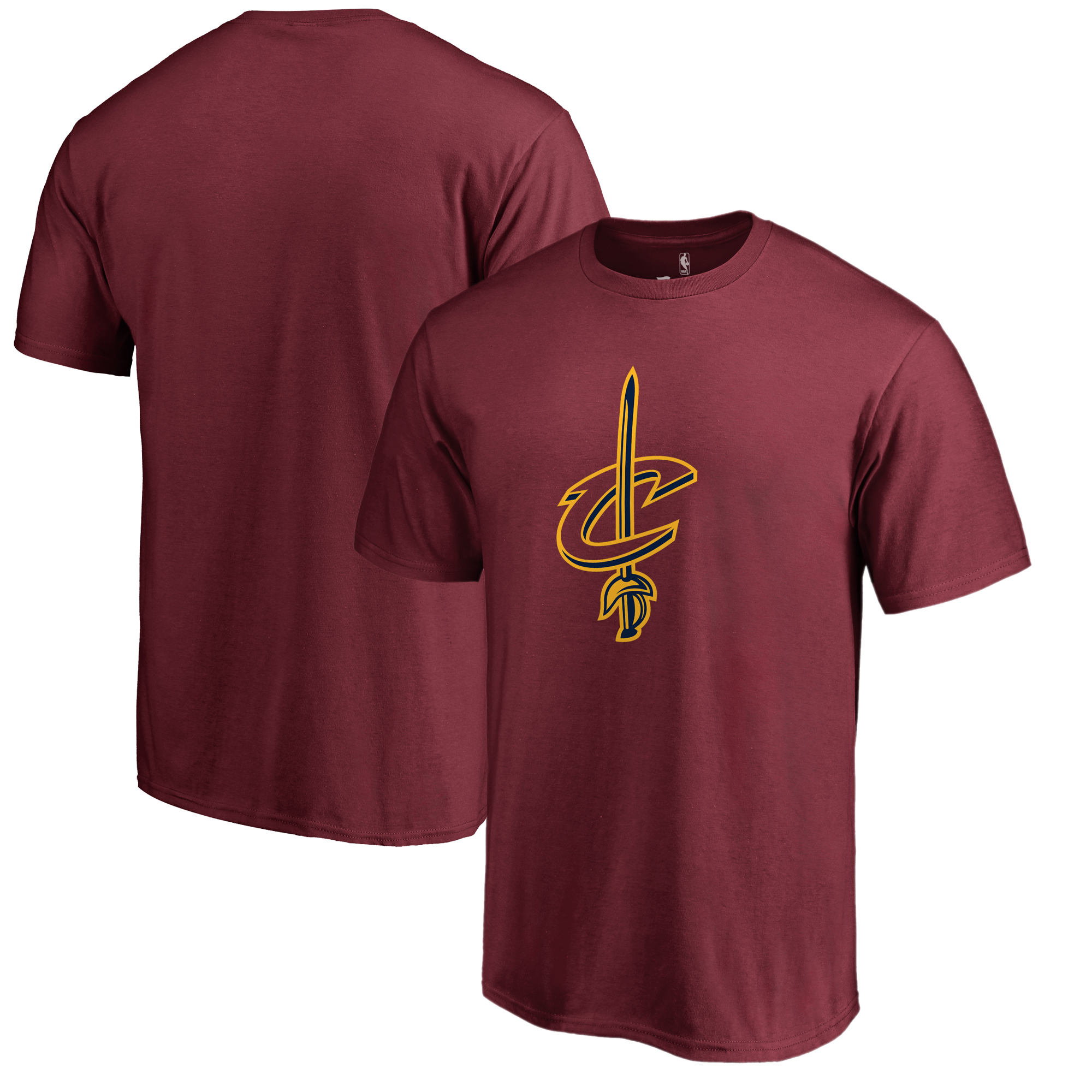 Cleveland Cavaliers Fanatics Branded Big & Tall Team Primary Logo T-Shirt - Wine