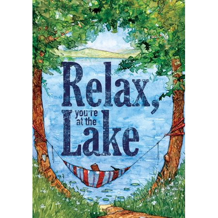 Relax at the lake garden size decorative double sided for Custom decor inc