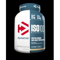 Dymatize ISO 100 Hydrolyzed 100% Whey Protein Isolate Powder, Gourmet Vanilla, 25g Protein, 3 Lb, 48 Oz