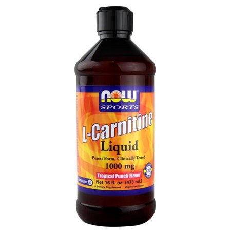 NOW Liquid L-Carnitine 1000mg, Tropical Punch, 16 Fl