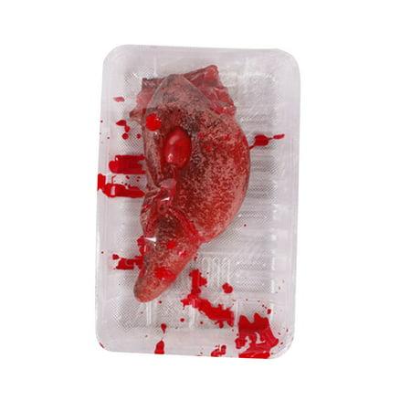 Halloween Fake Heart Brain Organ Haunted House Blood Horror Props Trick