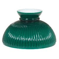 "06001 - 10"" Opal Glass Ribbed Green Student Shade"