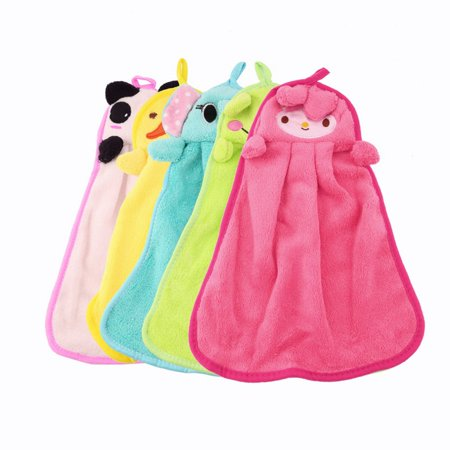 Easy-life Nursery Soft Plush Fabric Cartoon Animal Hanging Towel Washcloth Hand Towel - image 1 of 6