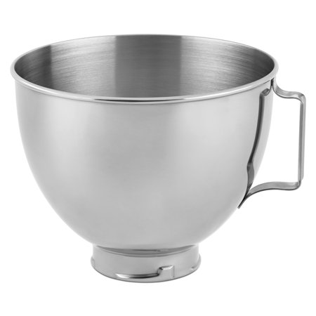 Whirlpool KitchenAid Polished Stainless Steel 4.5 Quart Bowl with Handle