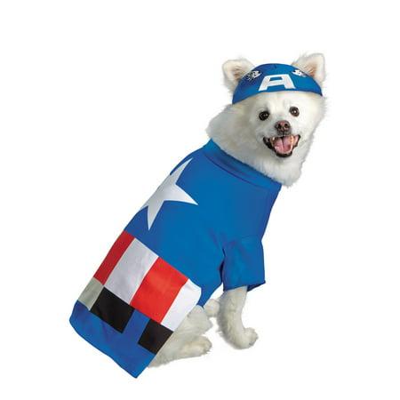 Marvel Captain America Pet Costume - Captain America Pet Costume