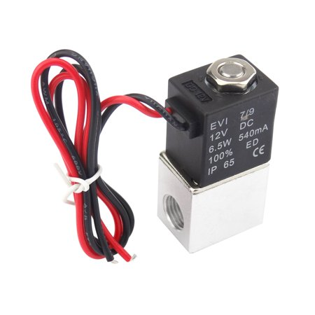 1/4inch DC 12V 2 Way Normally Closed Pneumatic Aluminum Electric Solenoid Air