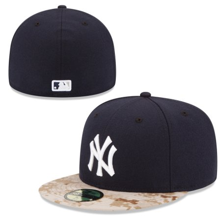 03c1ecd04e2 New York Yankees New Era 2015 Memorial Day On-Field 59FIFTY Fitted Hat -  Navy - Walmart.com