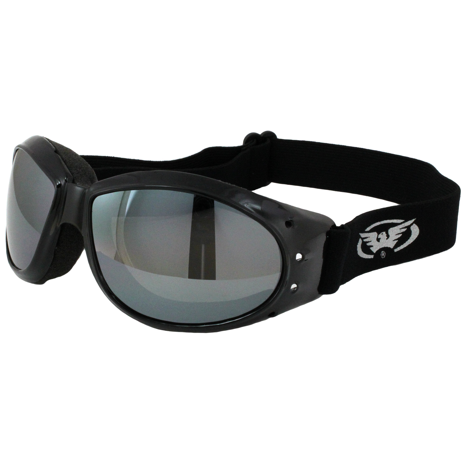 Global Vision Eliminator Motorcycle Goggles Black Frames Flash Mirror Lens Walmart Com Walmart Com
