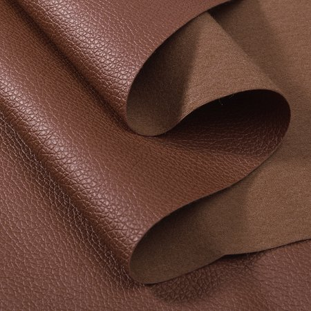 PU Faux Leather Fabric Car Interior Upholstery Home Decor Table Cover,Black & Brown