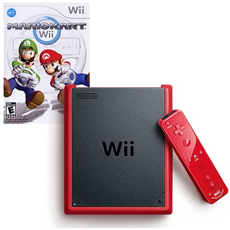 Nintendo Wii Mini Red with Mario Kart