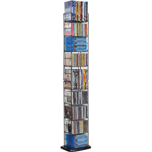 "Atlantic Inc 53"" 8 Adjustable Shelf Media Rack in Black by Atlantic"