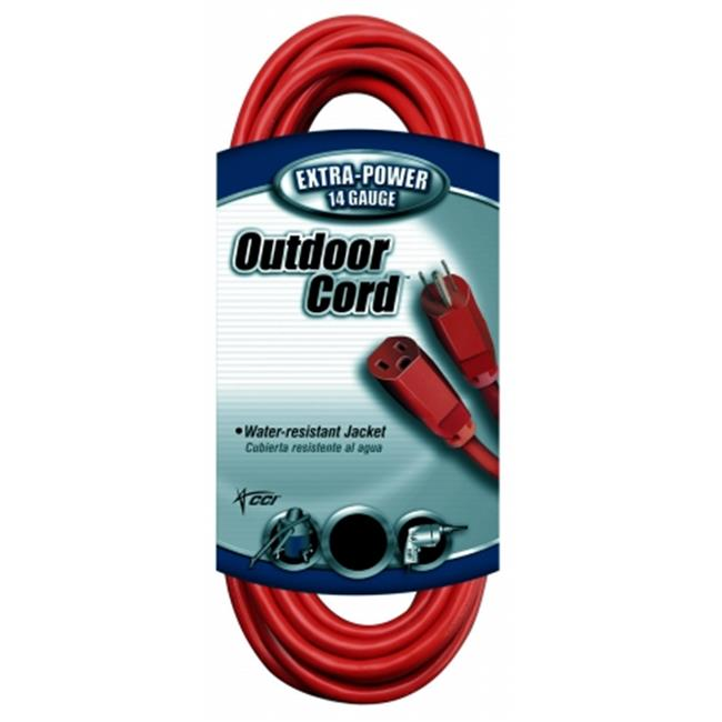 Coleman Cable 02409 100 ft. 14-3 Red Extension Cord