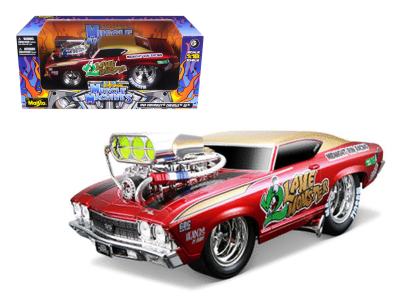 """1969 Chevrolet Chevelle Red Muscle Machines"""" 1 18 Diecast Model Car by Maisto"""" by Maisto"""