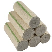 "GT 6"" Cotton Elastic Bandage with Hook and Loop Closure on both ends, 6 inches wide x (13 to 15 ft. when stretched), 6 Pack"