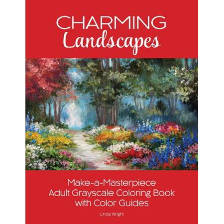 Charming Landscapes Make A Masterpiece Adult Grayscale Coloring