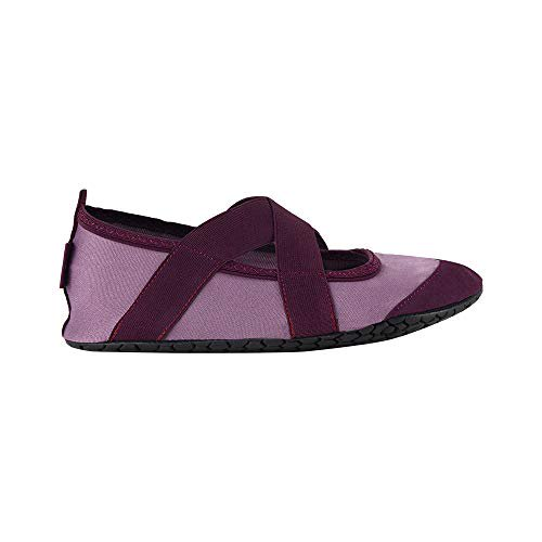 Fitkicks Fitkicks Crossovers Women S Foldable Active Lifestyle Minimalist Footwear Barefoot Yoga Water Shoes Mauve Walmart Com Walmart Com